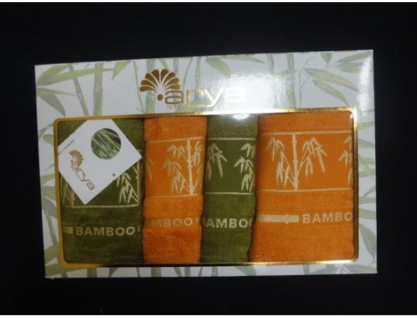 Комплект полотенец FAKILI Бамбук 4 пр. 50х90 2шт. 70х140 2шт.