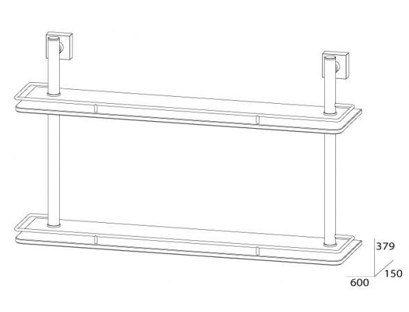 Полка с ограничителем двойная FBS ESPERADO 60 см ESP 065