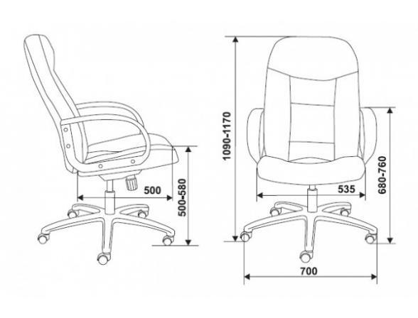 Кресло руководителя BURO CH-848AXSN