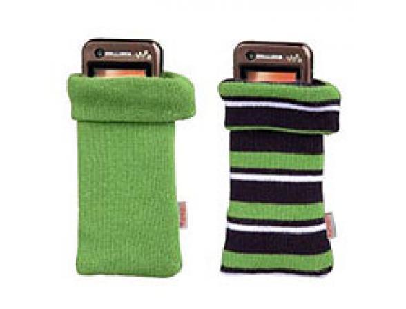 Чехол Hama Mini H-91661, зелен. + зелен. в полоску