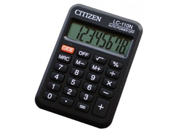 Калькулятор карманный CITIZEN citLC-110N