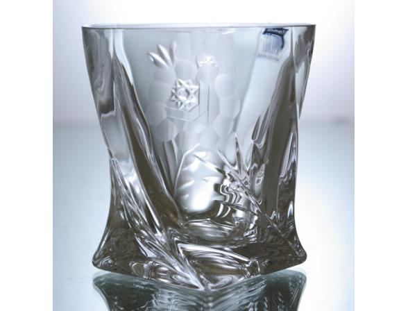 Набор стаканов для виски Crystalite Bohemia Квадро 340 мл *2 шт. 21009 Афр. Роза