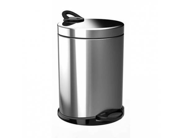 Ведро для мусора Meliconi 14л, матовый стальной