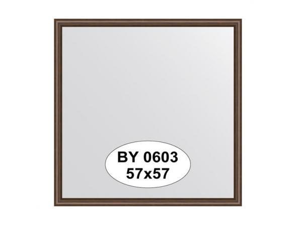 Зеркало в багетной раме EVOFORM орех 22 mm (57х57 см) BY 0603