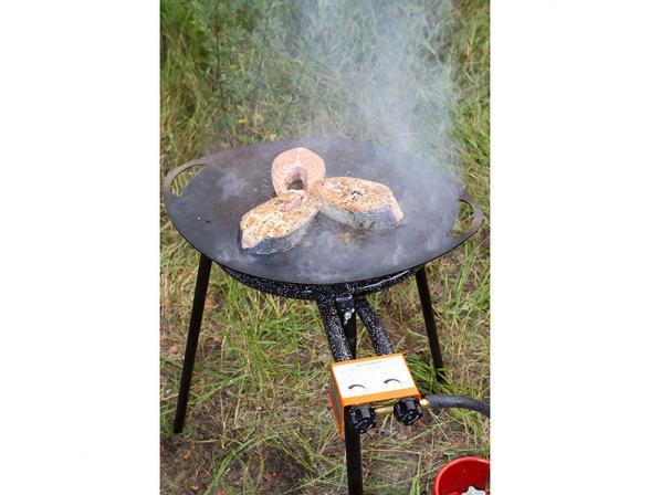 Сковорода костровая OPA овальная плоская 40 см