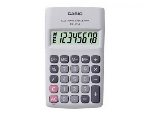 Калькулятор карманный Casio casHL-815L-WE