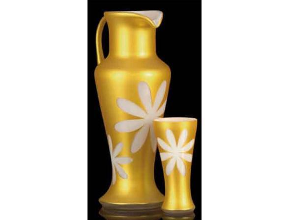 Набор для воды Crystal Art 1+6, 60065 (белый/золото )