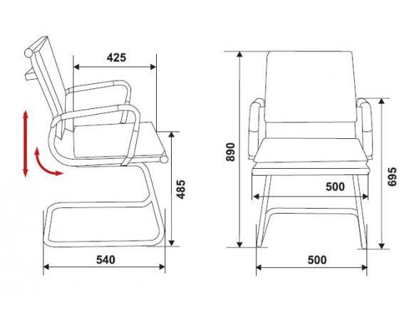 Кресло BURO CH-993-Low-V/brown