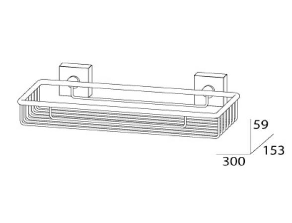 Полочка-решетка FBS ESPERADO 30 см ESP 049