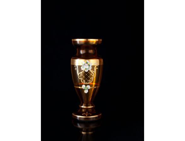 Ваза Crystal Art 25999, 25см (янтарь)