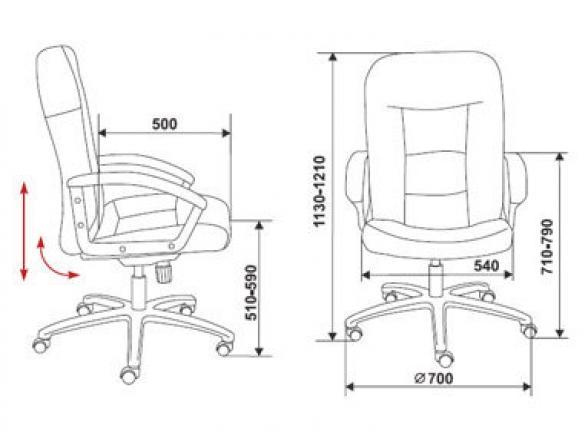 Кресло руководителя BURO 811/Black