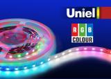 Светодиодная лента Uniel ULS-5050-60LED/m-10mm-IP20-DC12V-14,4W/m-5M-RGB катушка в герметичной упаковке