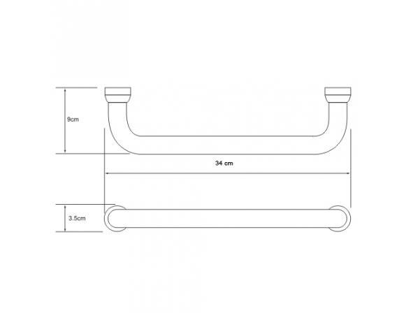 Поручень для ванны WasserKRAFT К-1066 30см