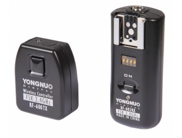 Беспроводной трос ДУ и радиосинхронизатор вспышек универсальный Yongnuo RF-602 Canon