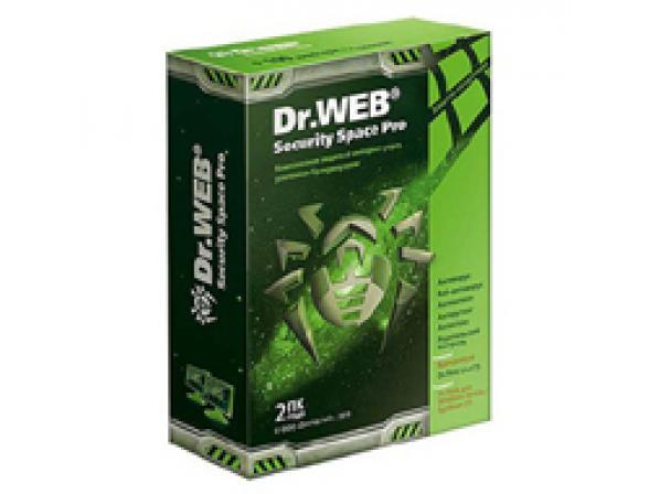 Антивирус Dr.Web Security Space Pro+Криптограф на 12 мес на 2ПК
