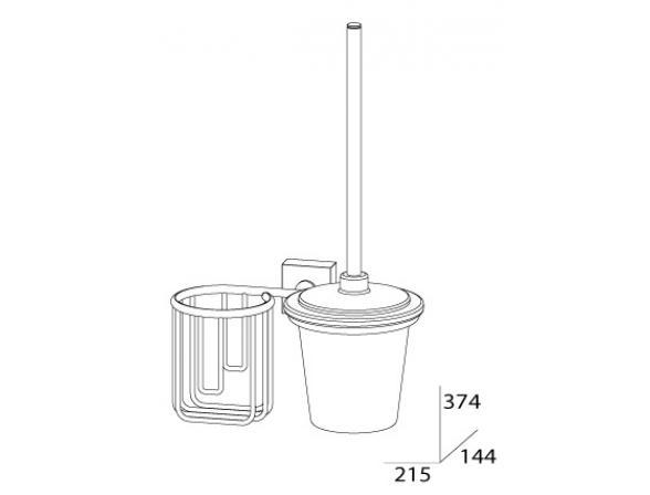 Комплект для туалета с держателем освежителя с крышкой FBS ESPERADO ESP 058