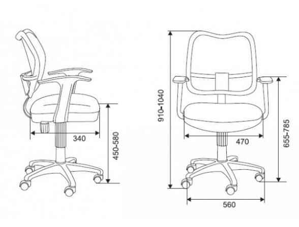 Кресло BURO CH-797AXSN/26-25