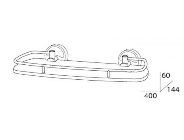 Полка с ограничителем FBS ELLEA 40 см ELL 014