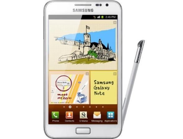 Смартфон Samsung GT-N7000 Galaxy Note белый