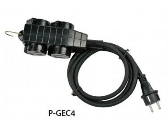 Удлинитель садовый с заземлением Uniel P-GEC4-050C