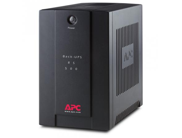 Источник бесперебойного питания APC Back-UPS RS 500, 300 Watts /  500 VA, 230V without auto shutdown software, (3) IEC 320 C13 BR500CI-RS