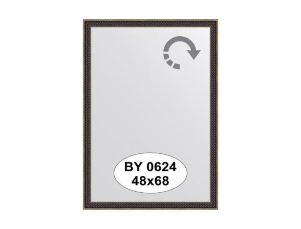 Зеркало в багетной раме EVOFORM витой махагон (48х68 см) BY 0624