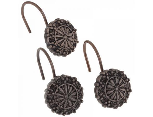 Набор из 12 крючков для шторки CARNATION Sheffield Bronze