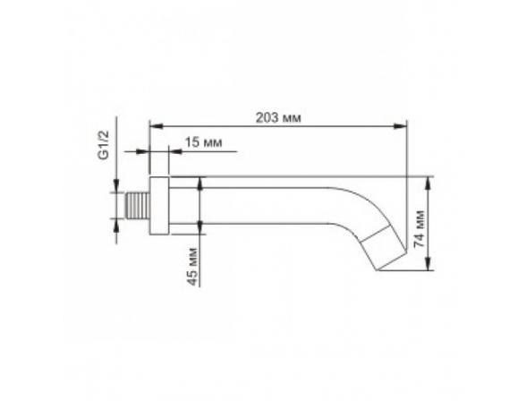 Встроенный излив для ванны WasserKRAFT А018