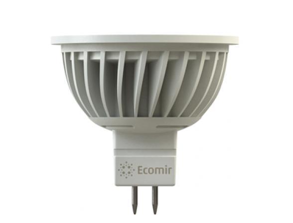 Светодиодная лампа Ecomir 4W MR16 GU5.3 12V, 4 Вт, жёлтый/ матовый рассеиватель 43361