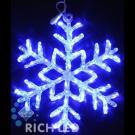 Снежинка светодиодная Rich LED акриловая, 70 см, цвет: синий