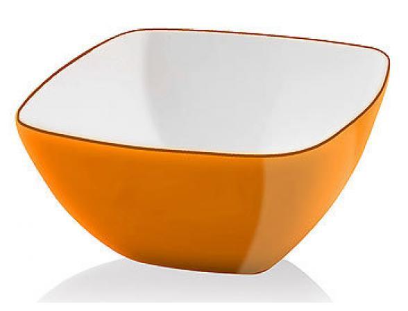 Миска Vialli Design LIVIO 14см оранжевая L-14O