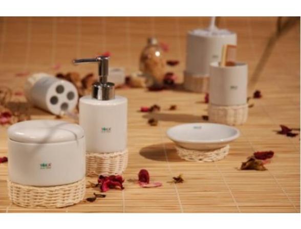 Набор для ванной Centrplus RATTAN, 5 предметов