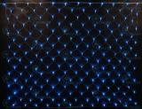 Светодиодная сетка Rich LED 2*1.5 м, цвет: синий+белый. Прозрачный провод.