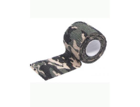 Самоклеящиеся лента Savotta Camo Elastic Bandage 2,5см*4,5м, камуфляж для охотников