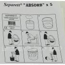 Влаговпитывающие салфетки Separett 5 шт./упак. 1060-01