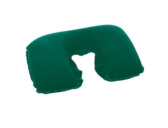Подушка-подголовник надувная Bestway Flocked Travel Pillow 67006