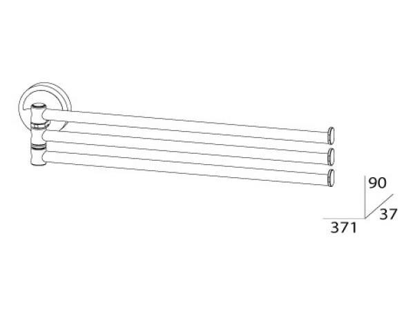 Держатель полотенец поворотный тройной FBS ELLEA 35 см ELL 045