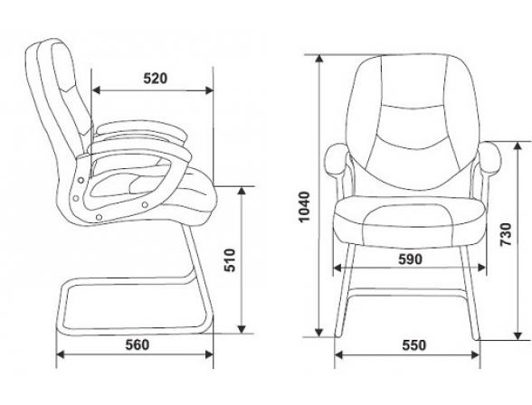 Кресло руководителя BURO T-9970ASXN-V/Black