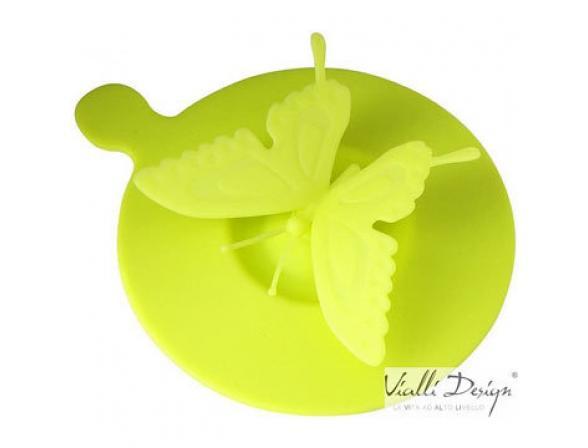 Крышка силиконовая Vialli Design LIVIO бабочка зеленая LCS-1G