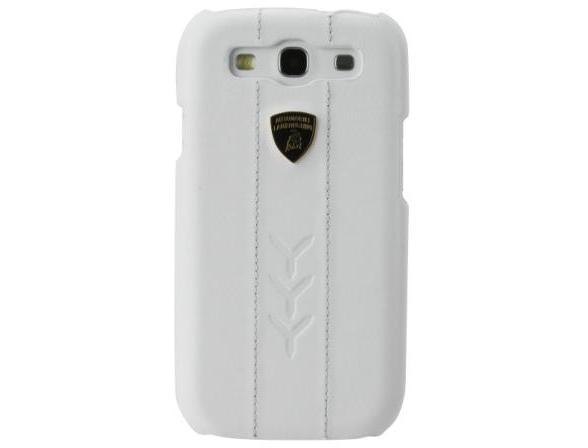 Чехол Promate Белый кожаный клип-кейс для Samsung Galaxy S3 Lamborghini