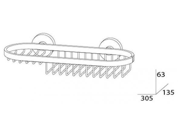 Полочка-решетка комбинированная ARTWELLE HARMONIA 30 см HAR 019