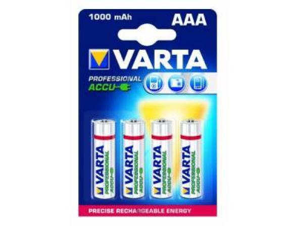 Аккумулятор Varta Professional AAA 1000 mAh (уп 4 шт)