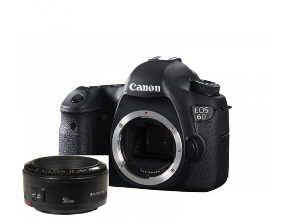 Зеркальный фотоаппарат Canon EOS 6D Kit 50 f/1.8 (WG) Wi-Fi, GPS