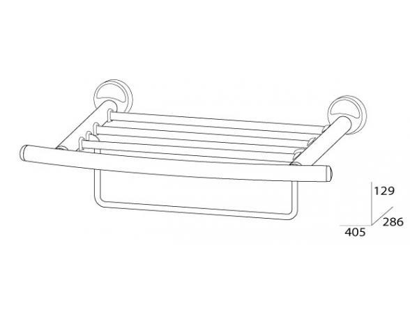 Полка для полотенец с нижним держателем FBS ELLEA 40 см ELL 040