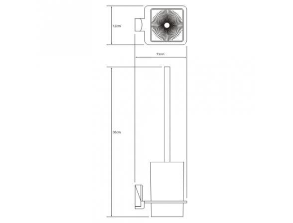 Щетка для унитаза подвесная WasserKRAFT Leine К-5027