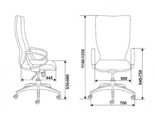 Кресло руководителя BURO 781/Brown