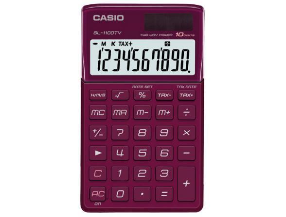Калькулятор  карманный Casio casSL-1100TV-RD