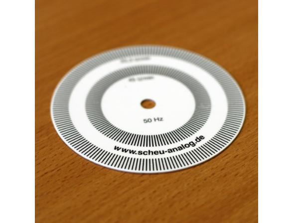 Настроечный диск Scheu Analog stroboscope disc