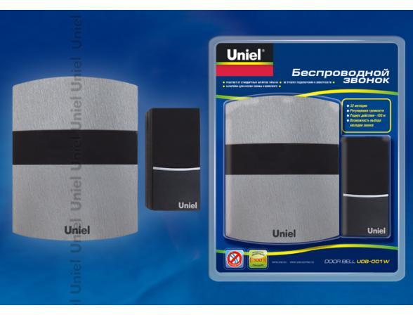 Звонок беспроводной Uniel UDB-001W-R1T1-32S-100M-LS