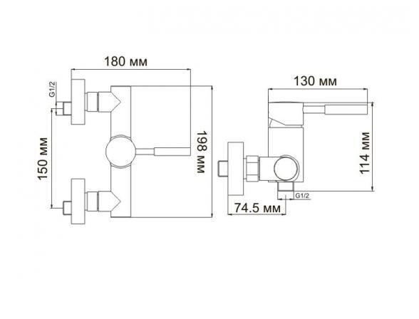 Смеситель для душа WasserKRAFT Main 4102